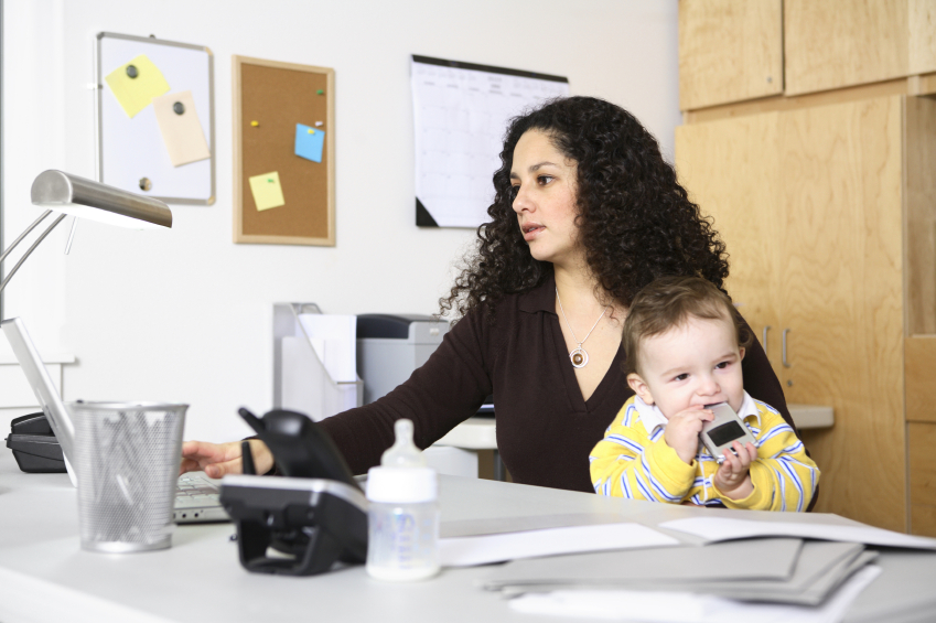 work at home mom with baby